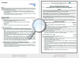 Resume Writing Service Before-After