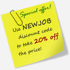 Resume writing service offer: first order 20% off