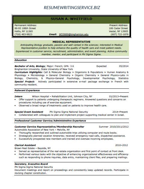 sample medical representative resume sample. Resume Example. Resume CV Cover Letter