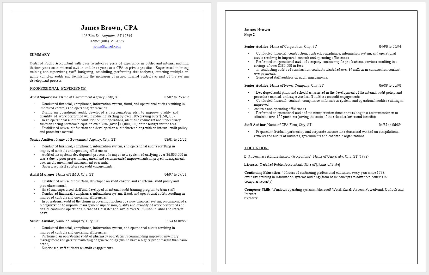 sample accountant resume – Sample Accounting Resume