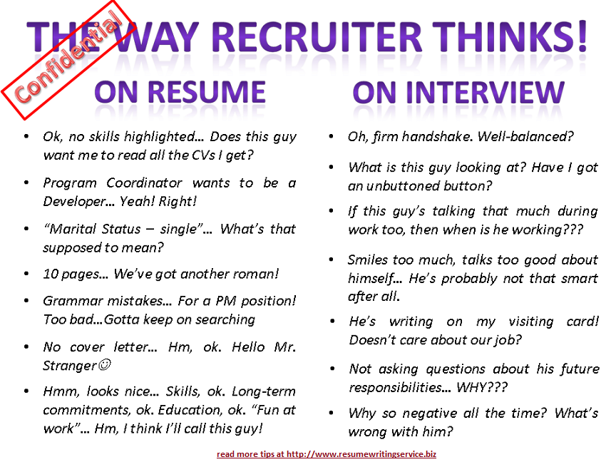 the way recruiter thinks