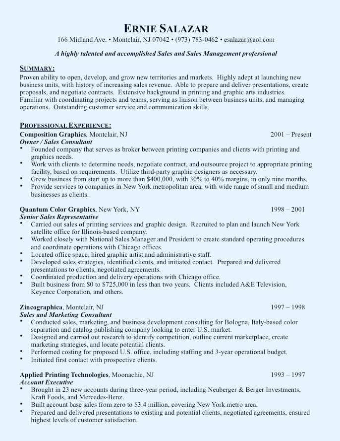 Resume Writing Service  Sample Marketing Resumes