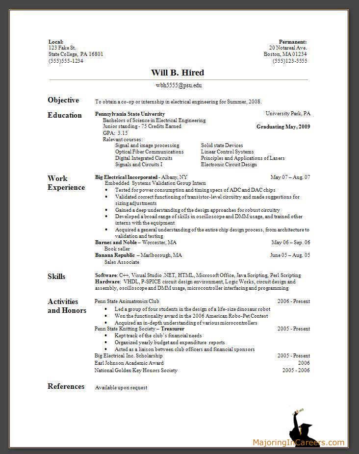 Sample Basic Resume  Sample Resume And Free Resume Templates