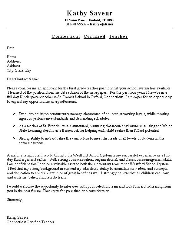 see elementary teacher resume sample here
