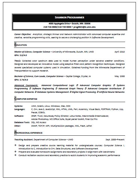 Resume Format Hong Kong Resume and CV Samples