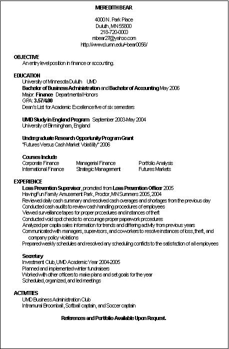 curriculum vitae examples for students. curriculum vitae sample for