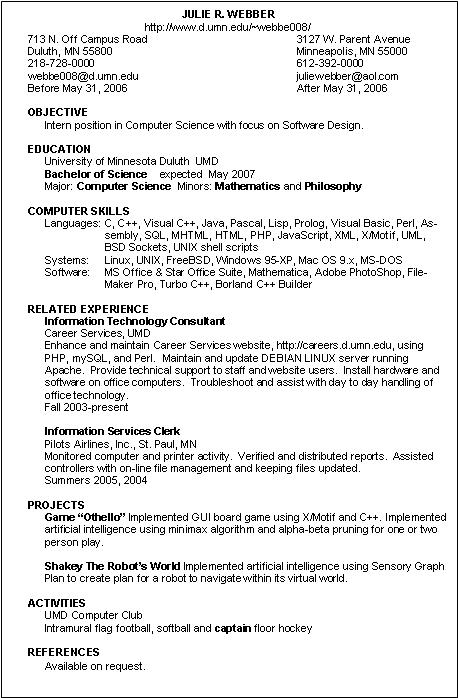 Technology Resume. Information Technology Resume Template Example ...