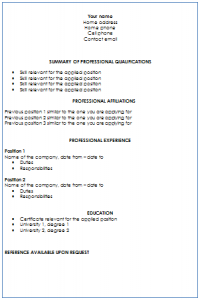 Targeted Resume Writing Format