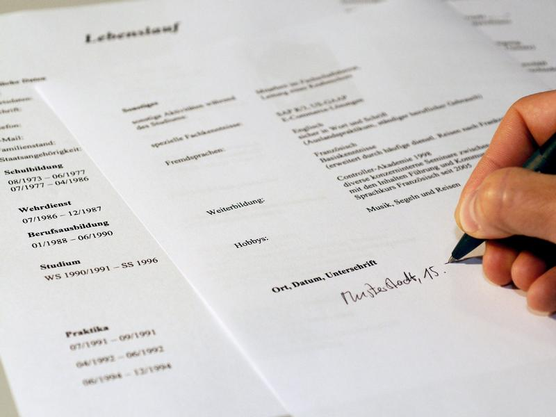 writing a german resume