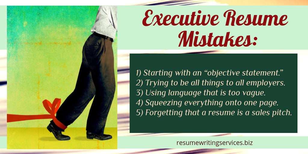 exective resume writing tips