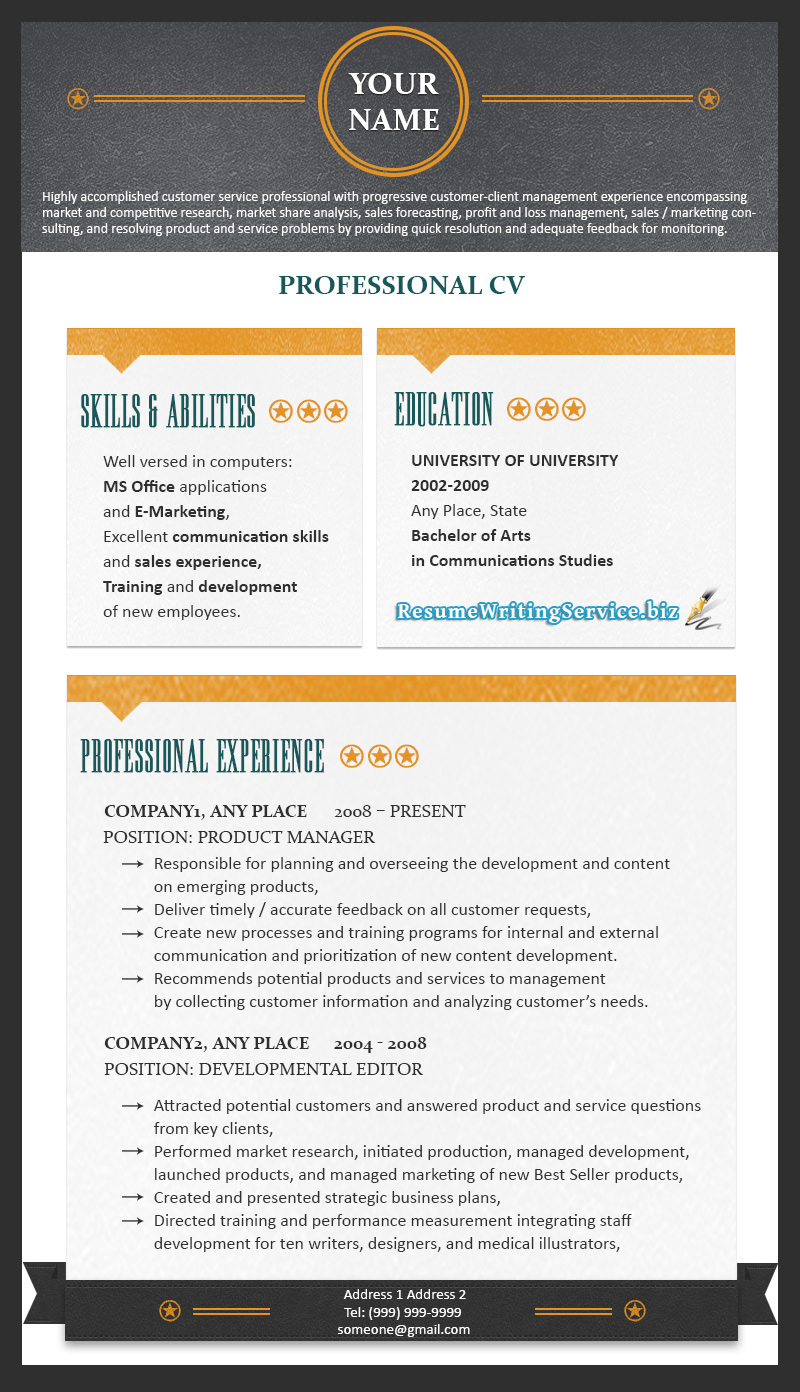 professional resume format 2015 resume writing service