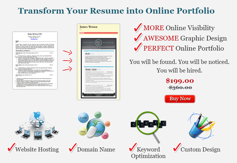 Personal Resume Website Creation Service