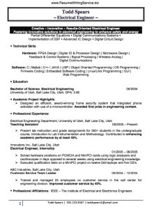 find an electrical engineer resume sample here resume