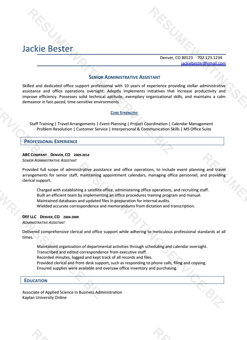 professional resume service chicago