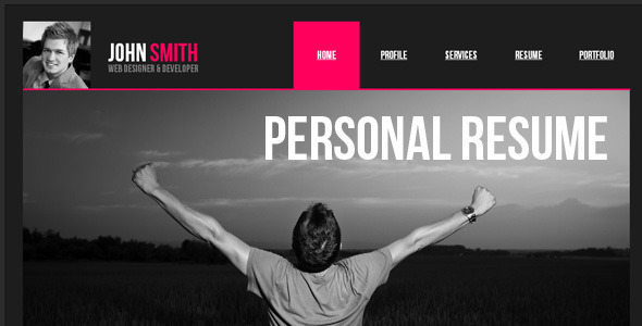 Personal resume website pros cons resume writing service for Personal profile design templates