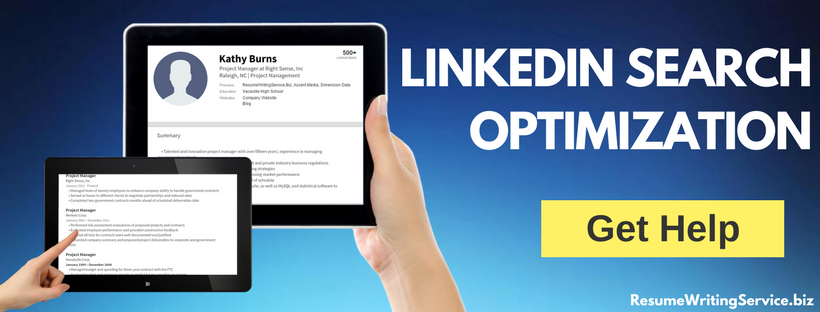 linkedin search optimization help