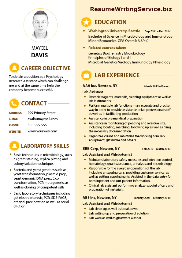 Powerful Resume Sample For Lab Research Assistant