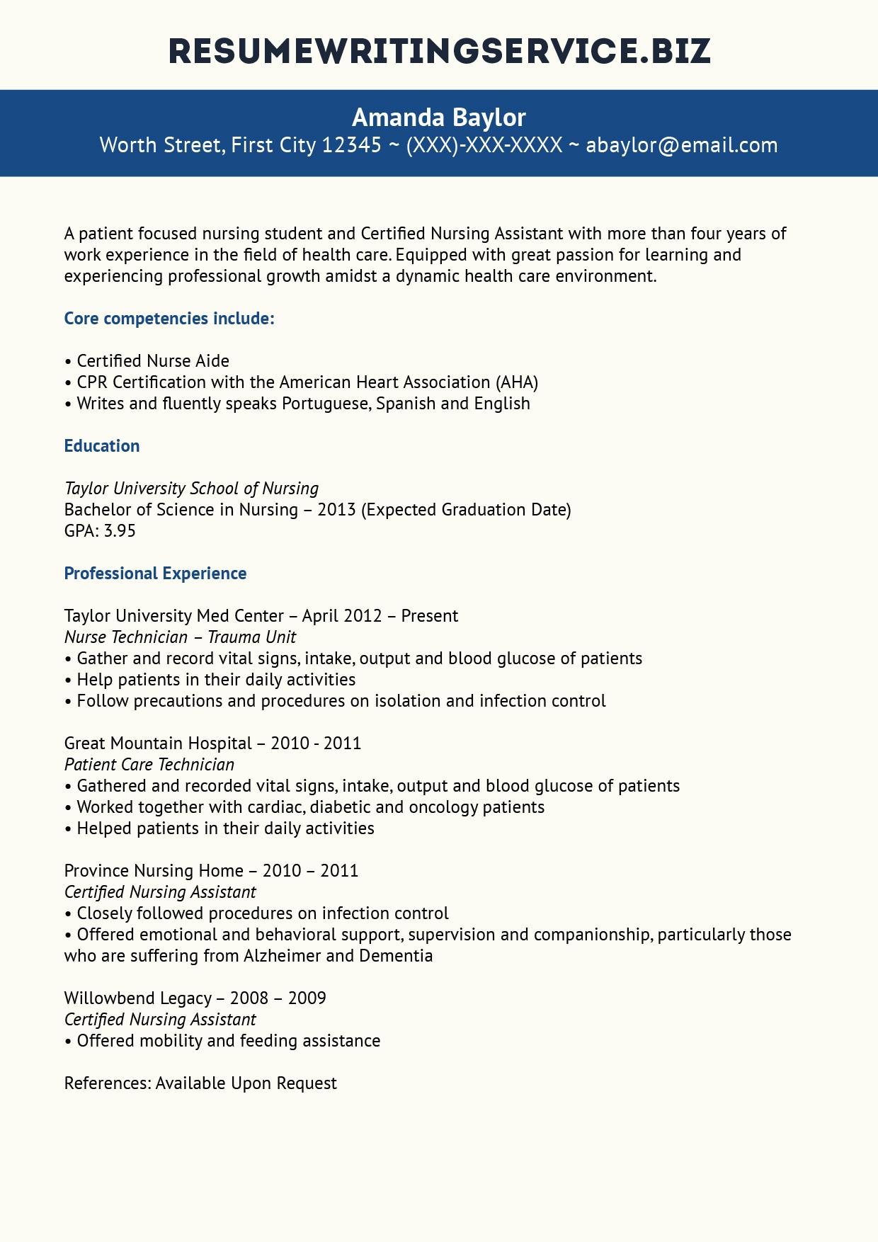New Grad RN Resume Nurse Resume Service Certified Award Winning Writing  Excellence