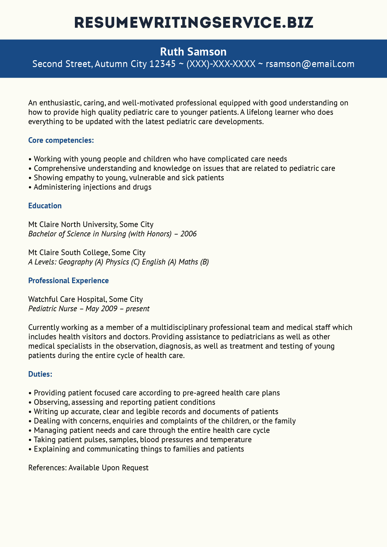 pediatric nurse resume resume format download pdf