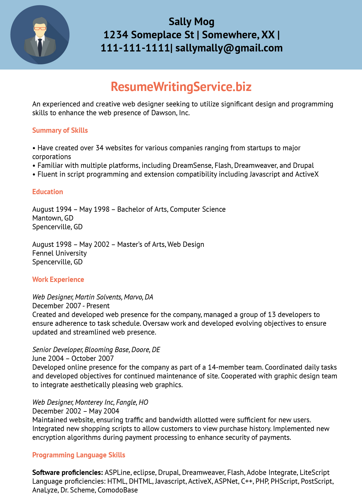 web designer resume sle resume writing service