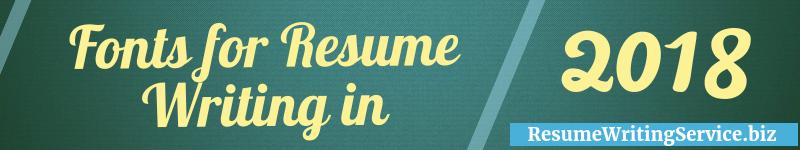 best font for resume 2018