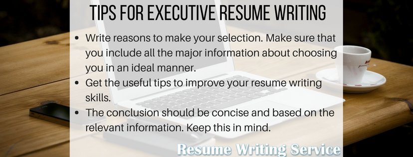 executive resume writing service tips