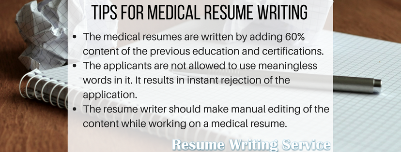 medical writer resume tips