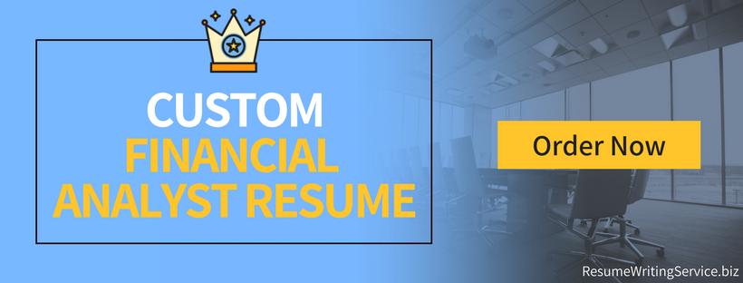 senior financial analyst resume writing service
