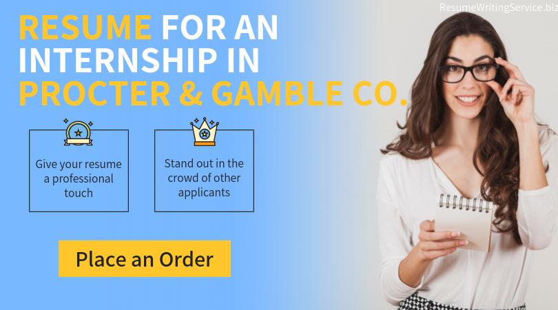 internships in procter & gamble company help