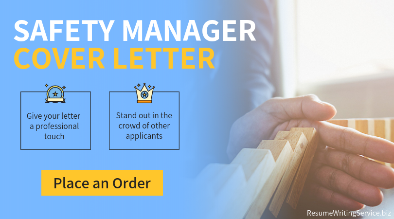safety manager cover letter writing service
