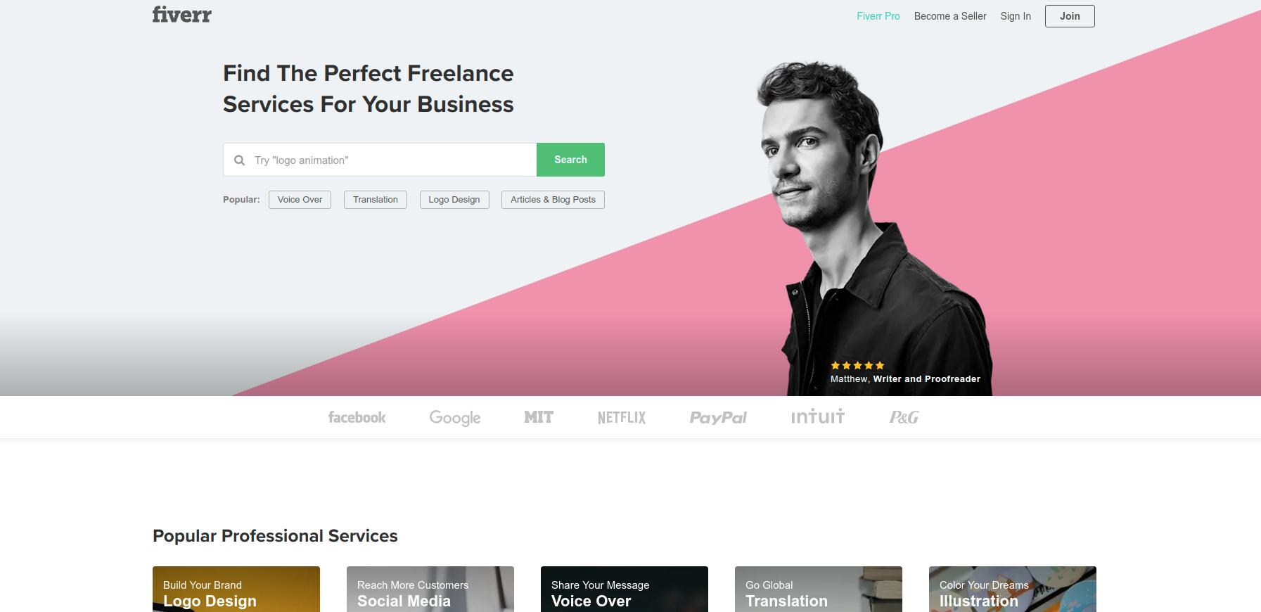 Fiverr.com best resume service